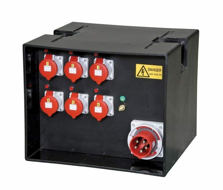 125A Temporary Power Distribution Box